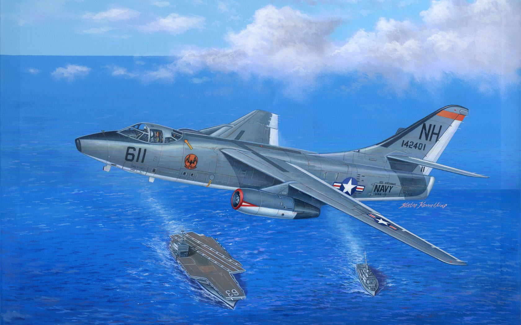рисунок EA-3B Skywarrior