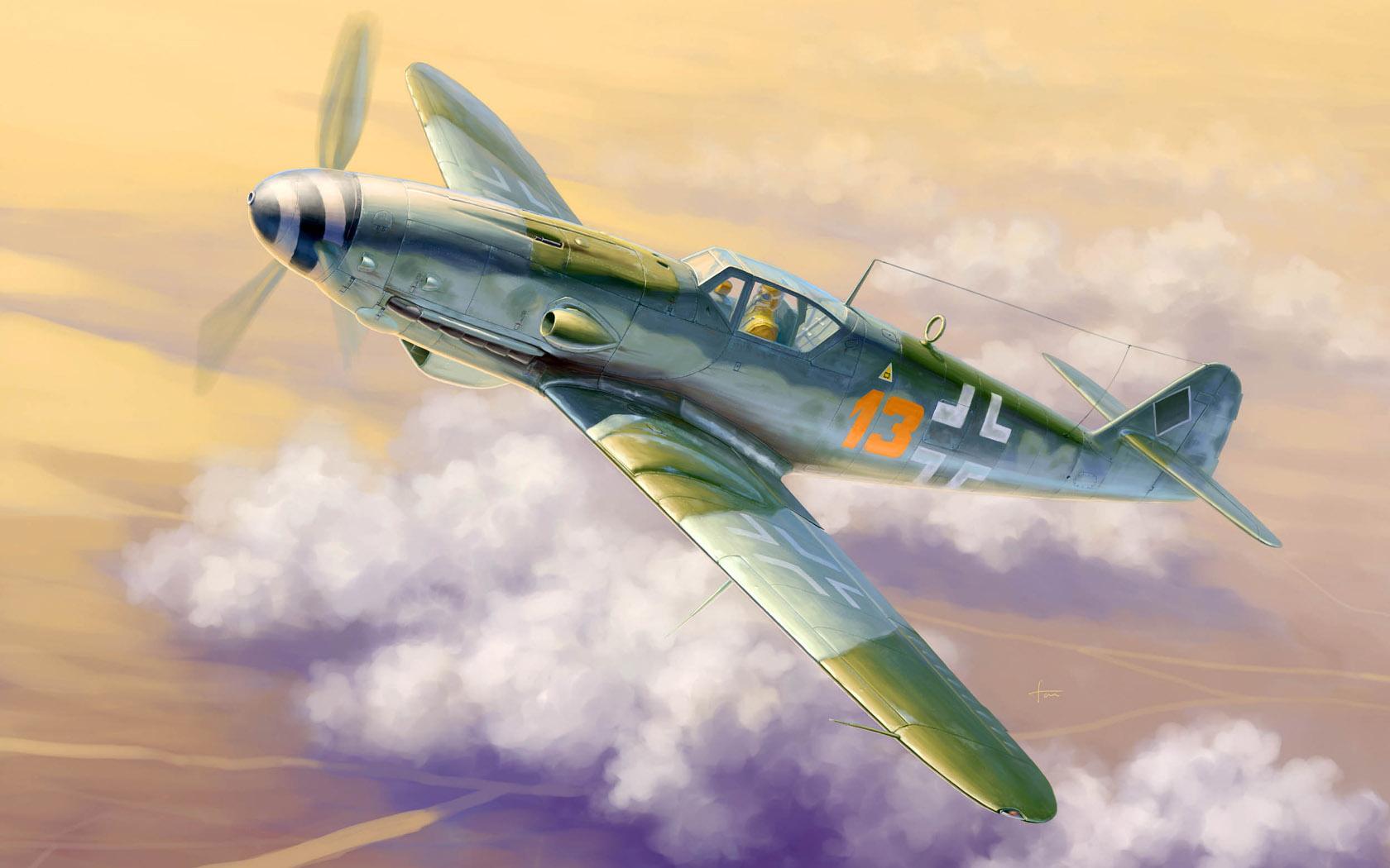 рисунок Bf-109 K-4