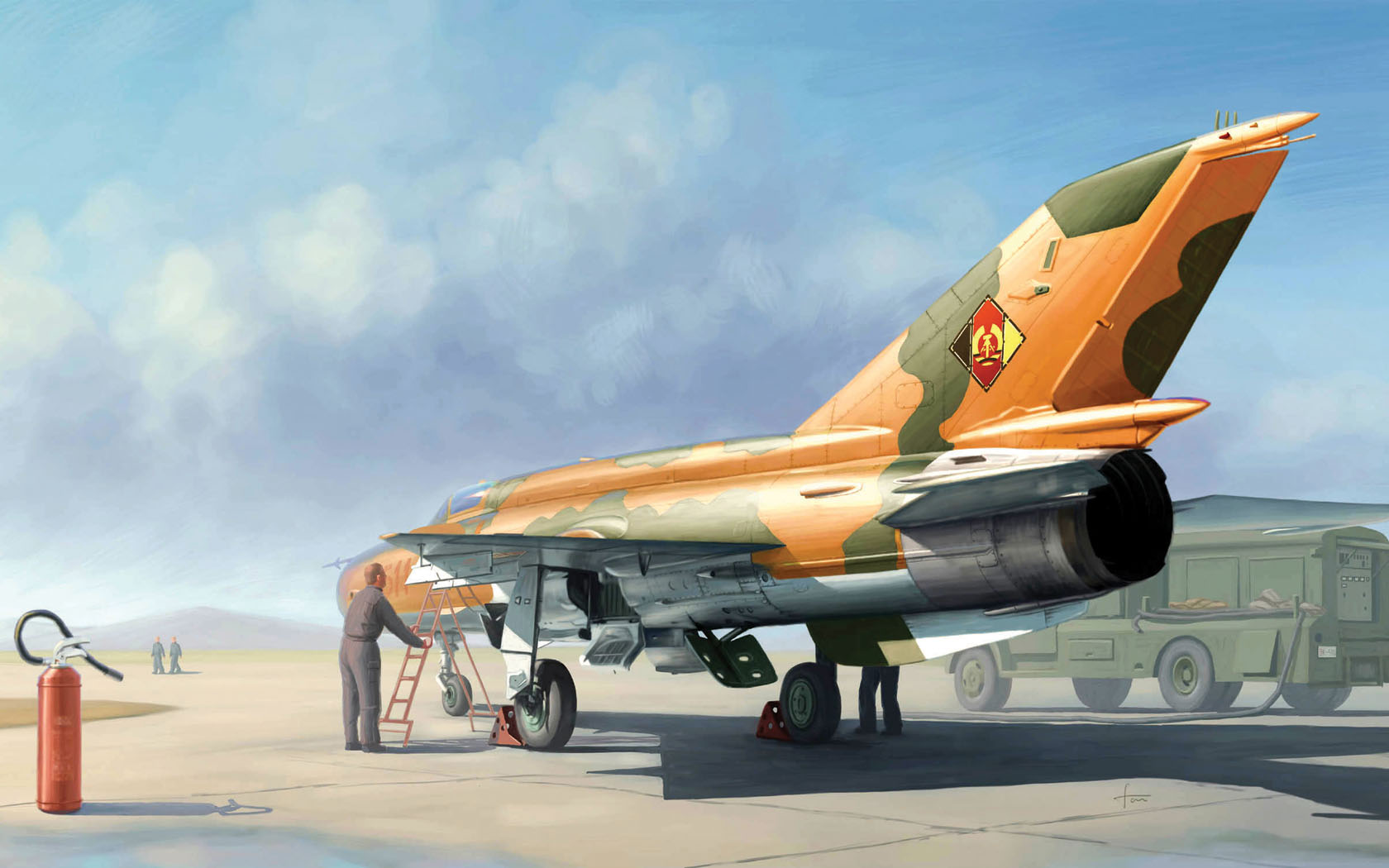 рисунок МиГ-21МФ