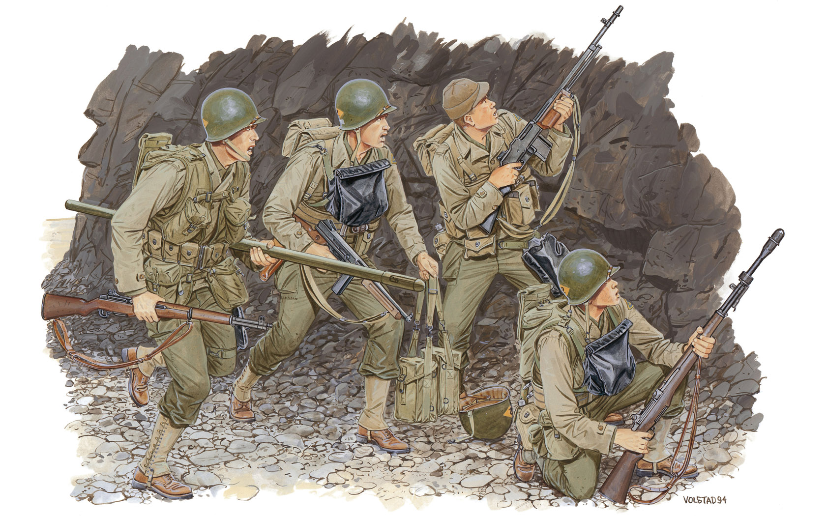 рисунок U.S. Rangers, Normandy 1944