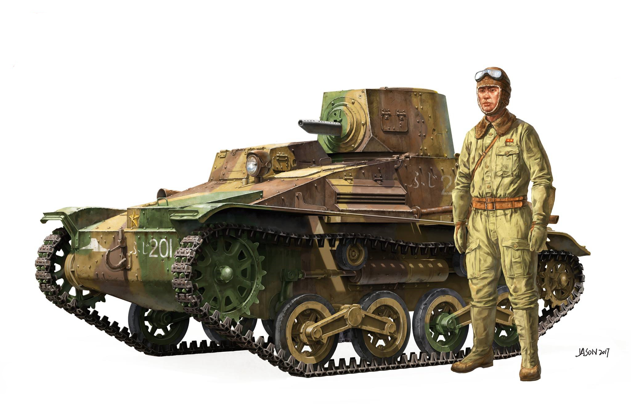 рисунок Imperial Japanese Army Type 94 Tankette