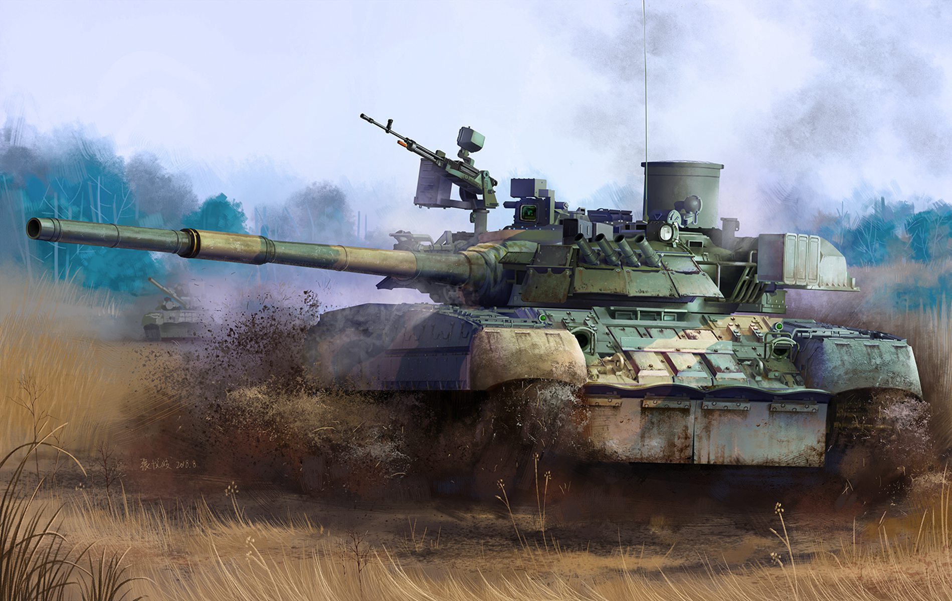 рисунок T-80U Russian Main Battle Tank