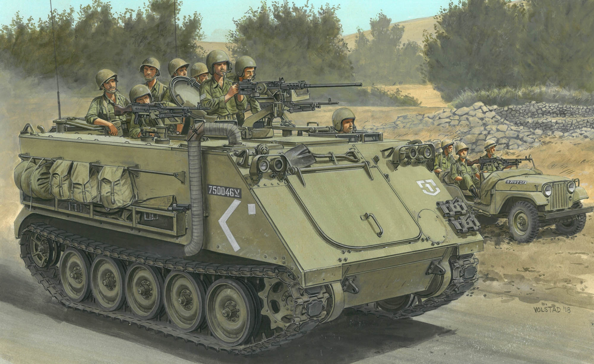 рисунок IDF M113 Armored Personnel Carrier