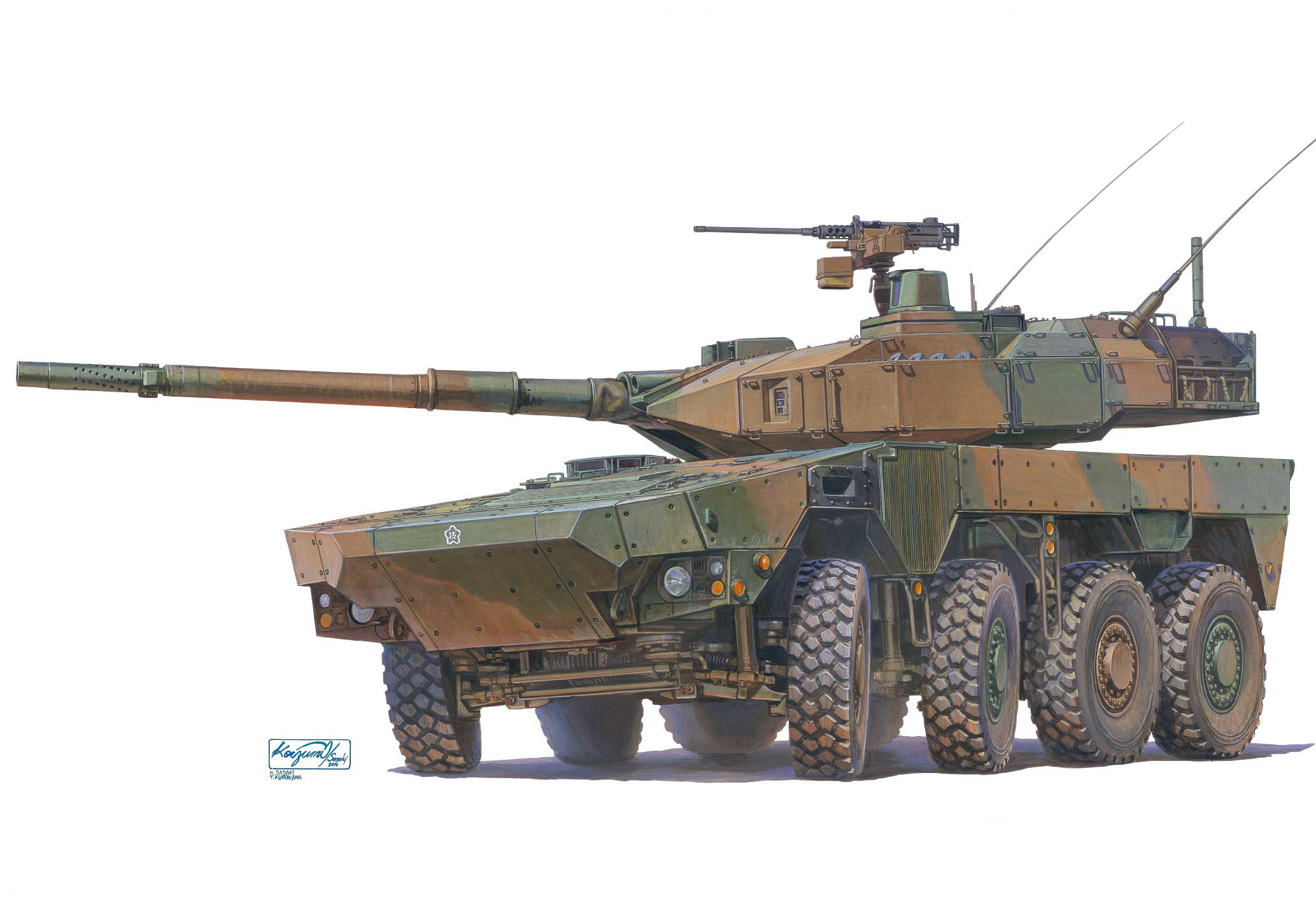 рисунок JGSDF Maneuver Combat Vehicle (Proto Type)