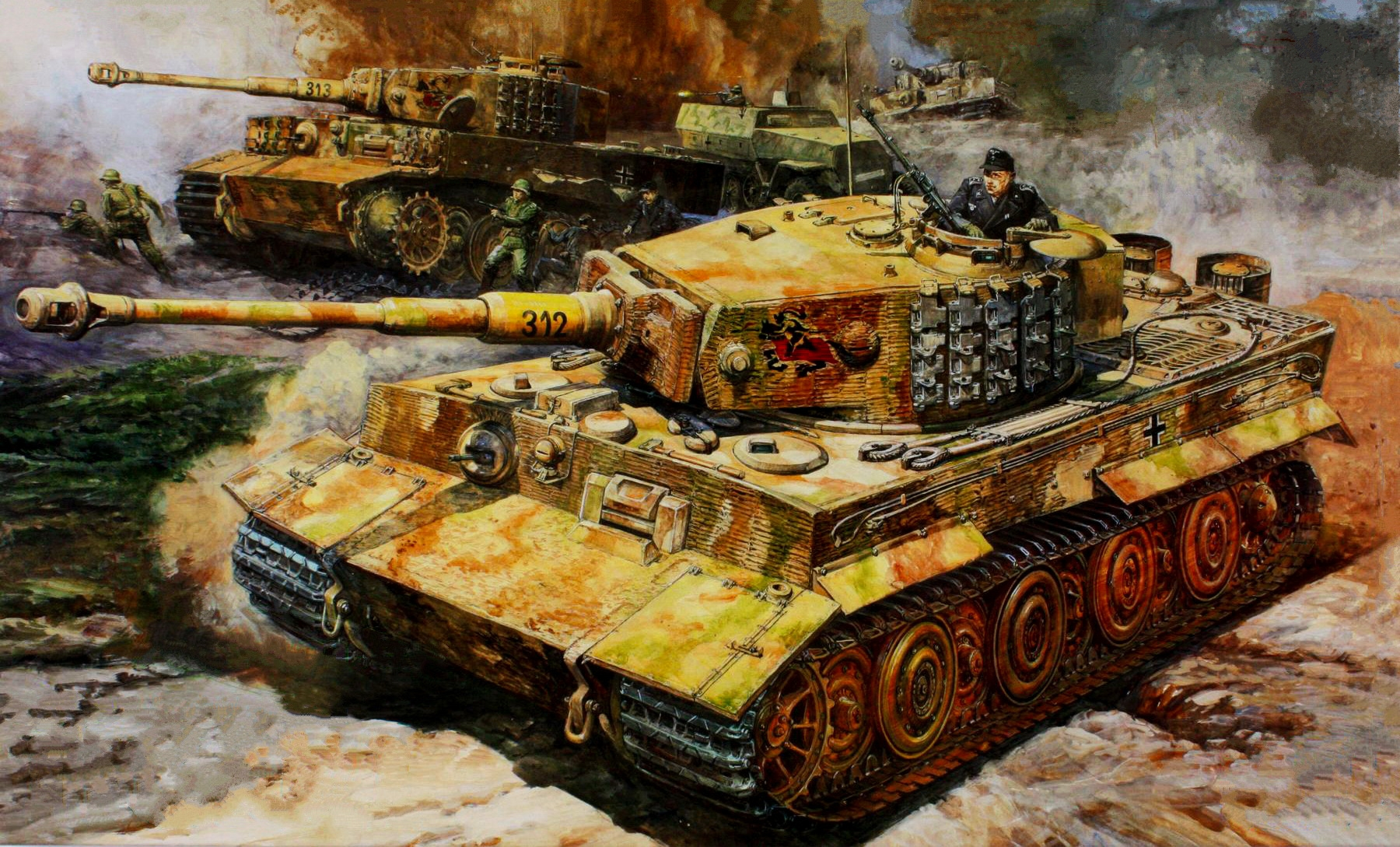 рисунок Tiger I Late Version