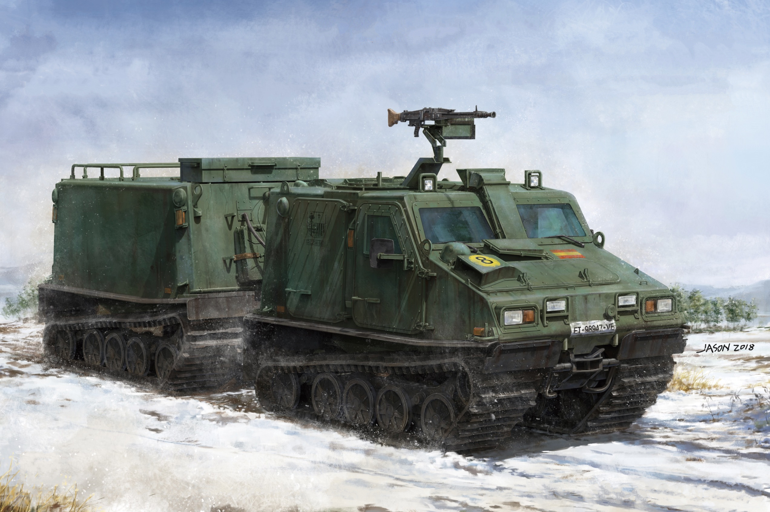 рисунок BV 206S Articulated Armored Personnel Carrier