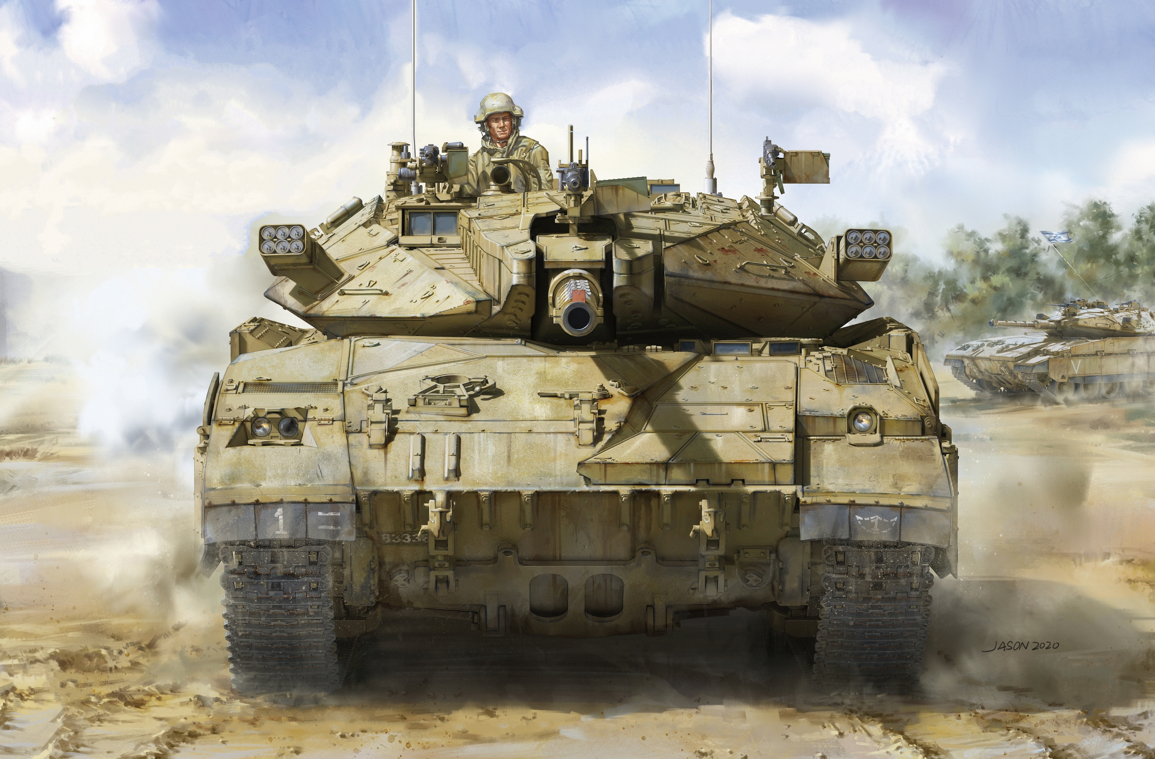 рисунок Merkava Mk.2D IDF Main Battle Tank