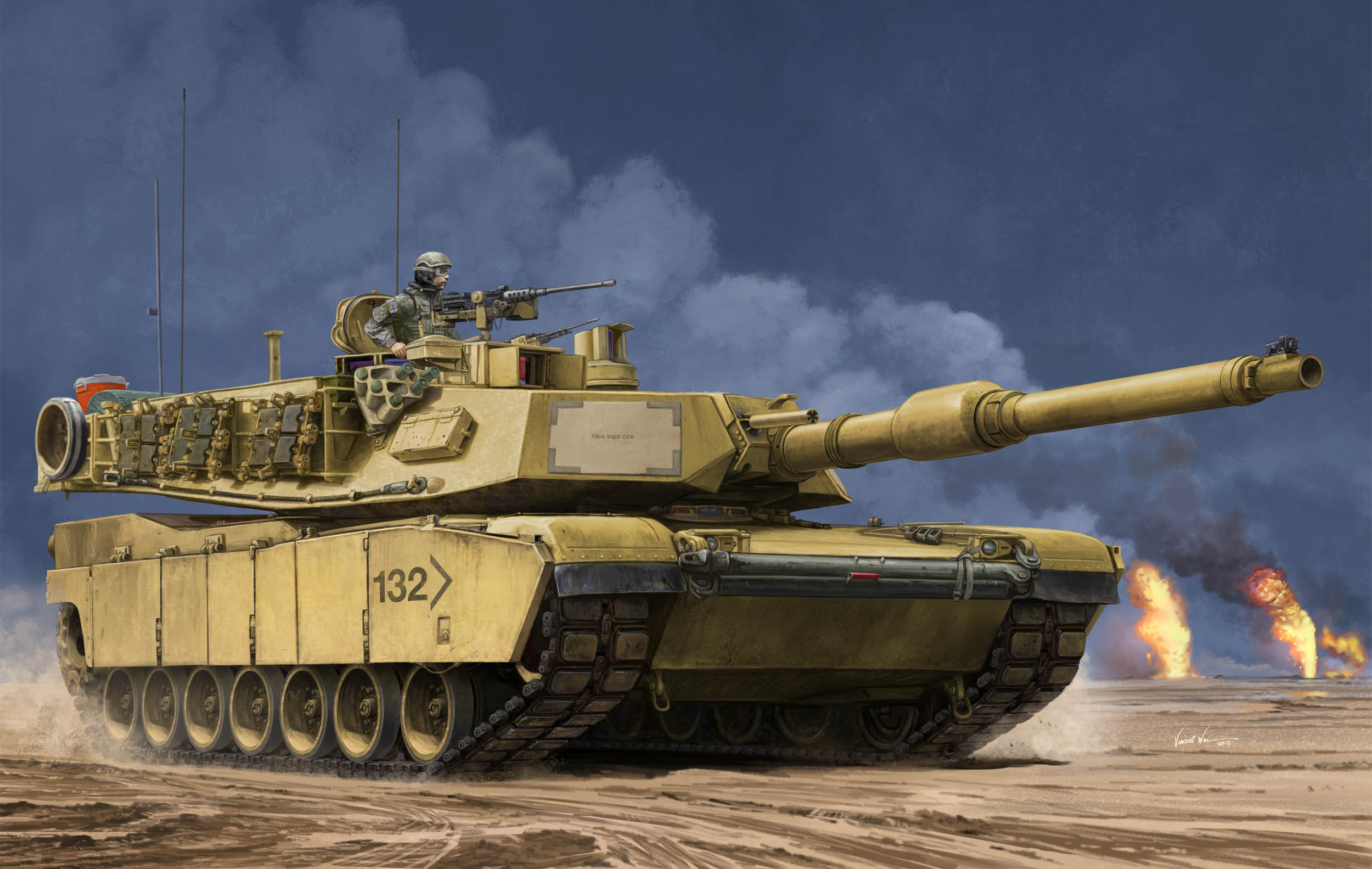 рисунок US M1A2 SEP MBT
