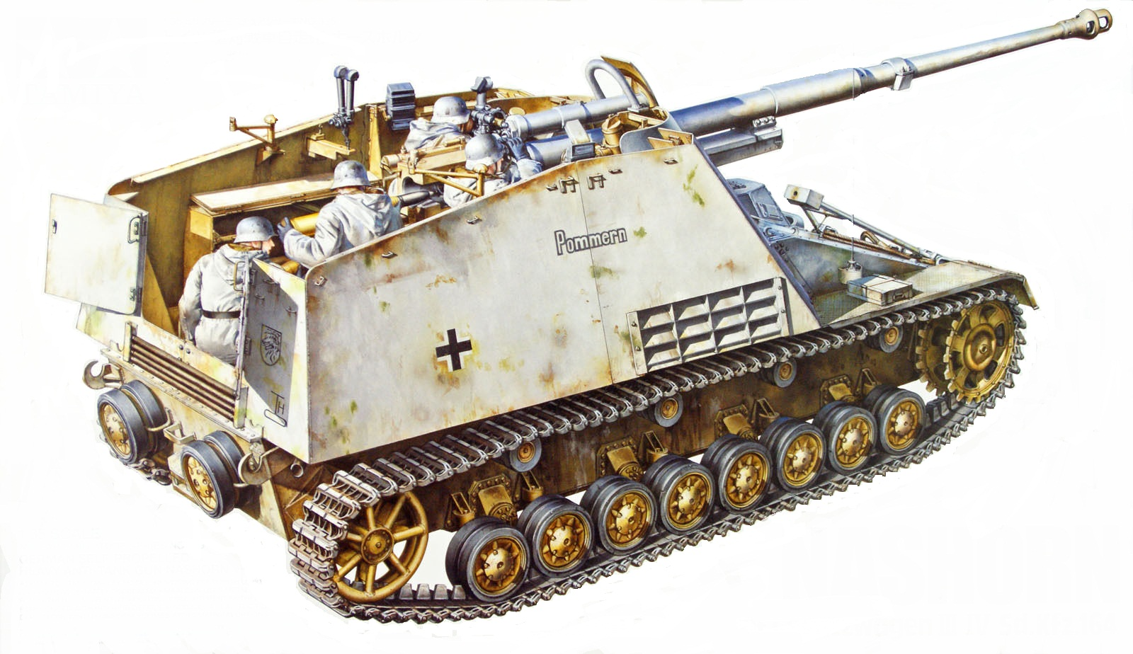 рисунок German Self-propelled Heavy Anti-Tank Gun NASHORN