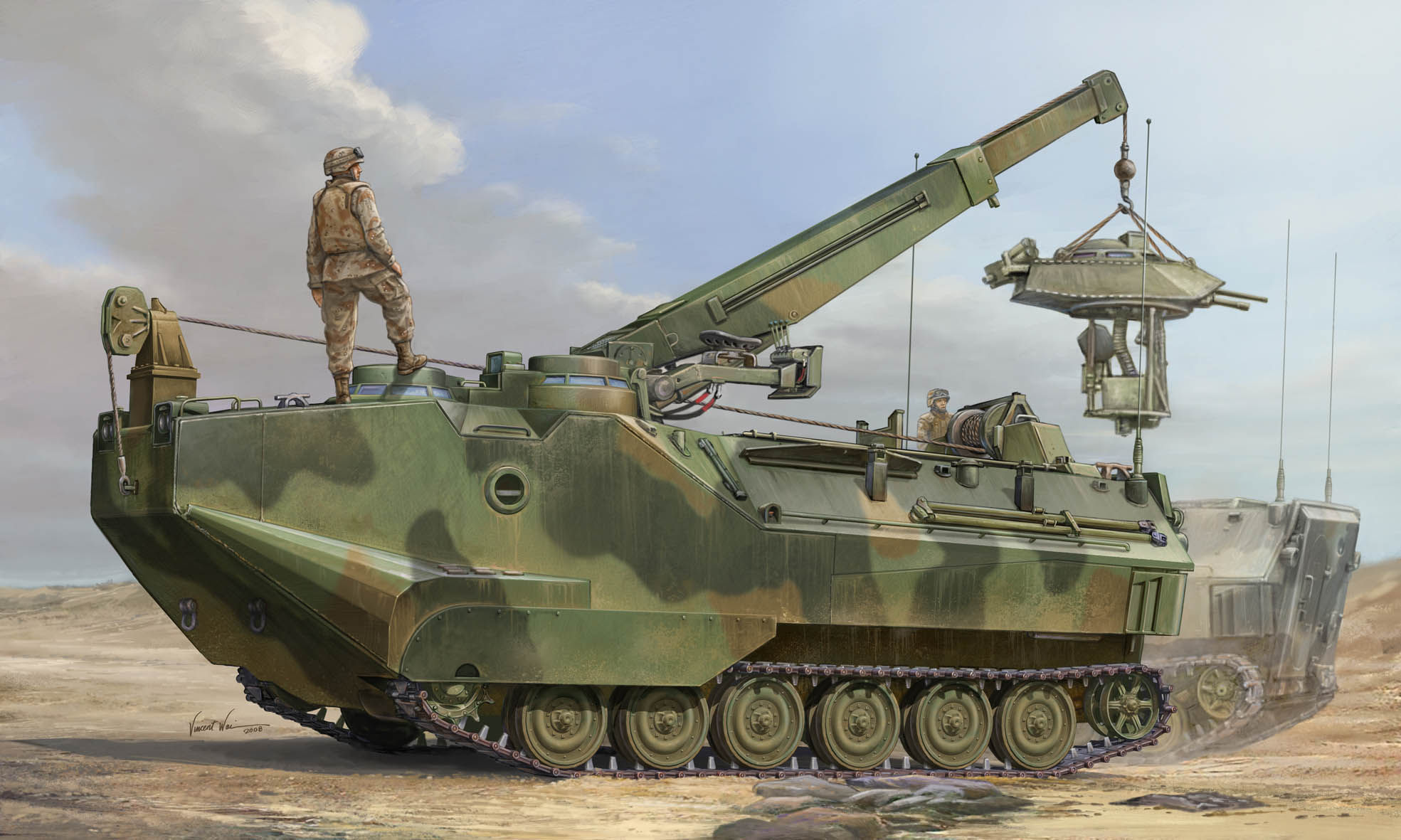 рисунок AAVR-7A1 Assault Amphibian Vehicle Recovery