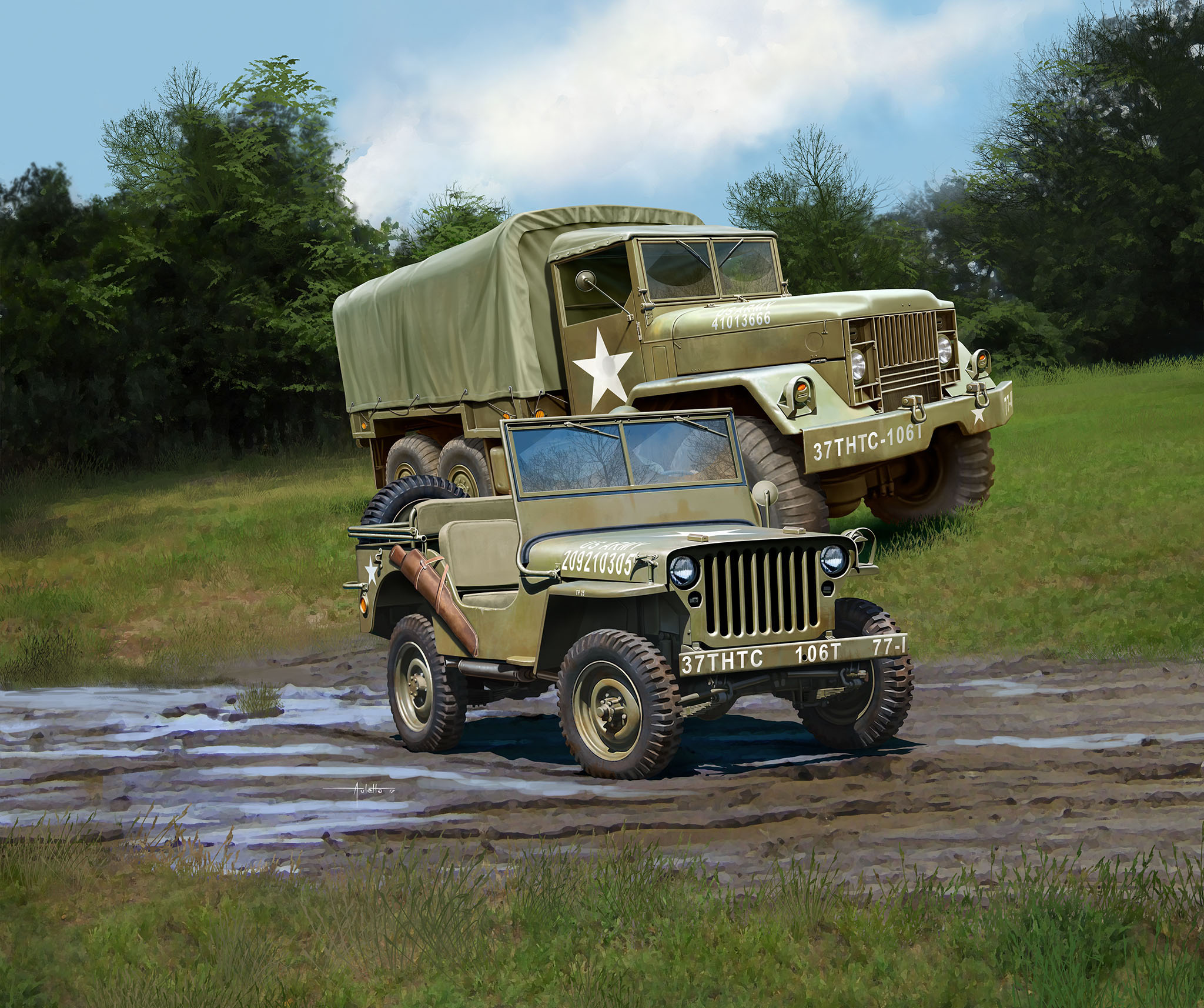 рисунок M34 Tactical Truck & Off Road Vehicle