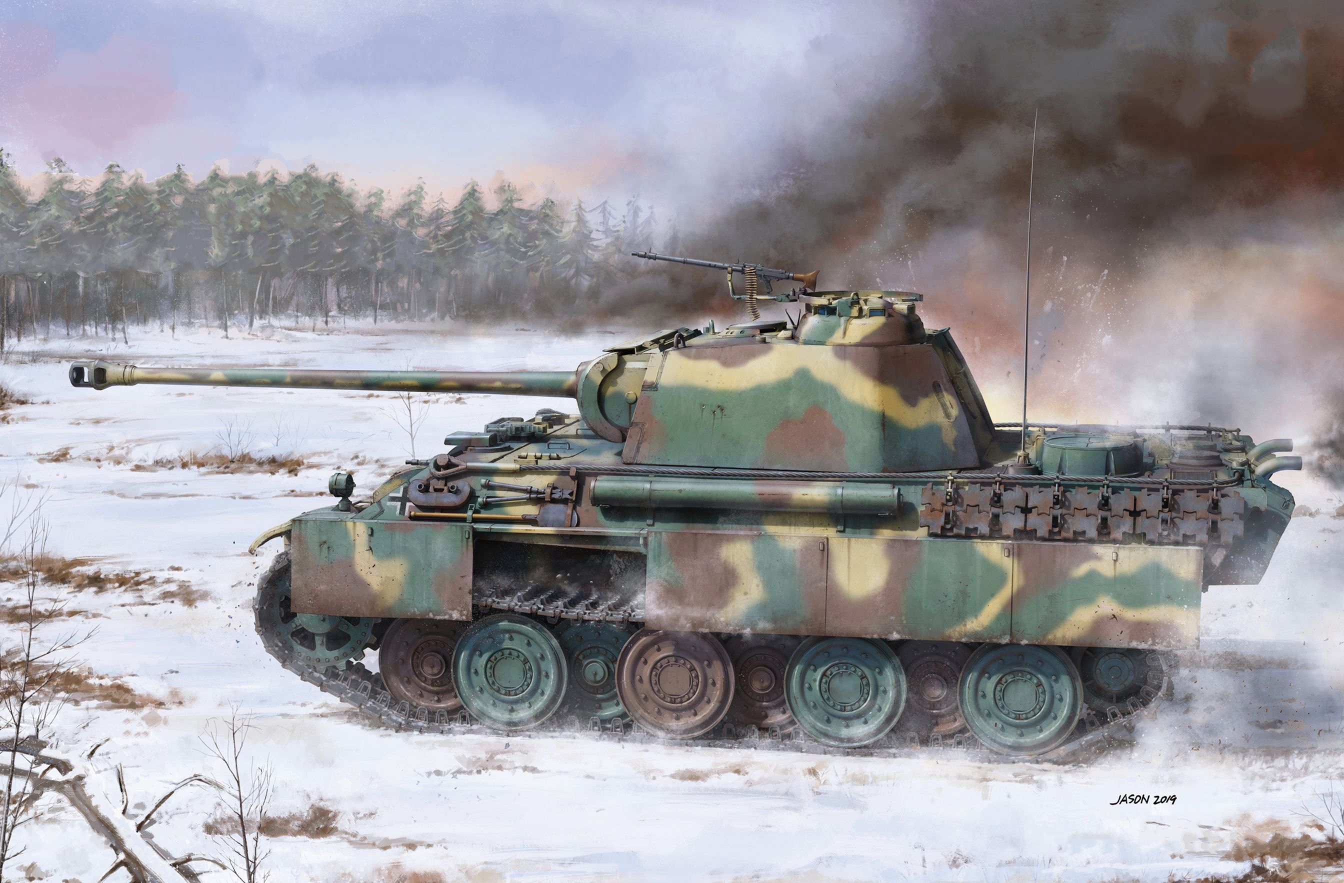 рисунок Panther Ausf.G Mid Production w/Steel Wheels