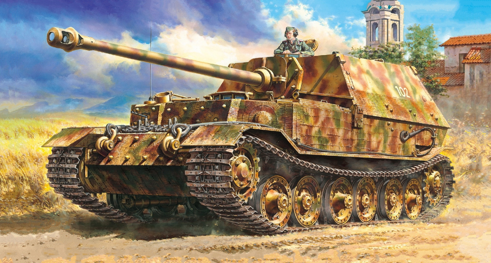 рисунок German Heavy Tank Destroyer Elefant