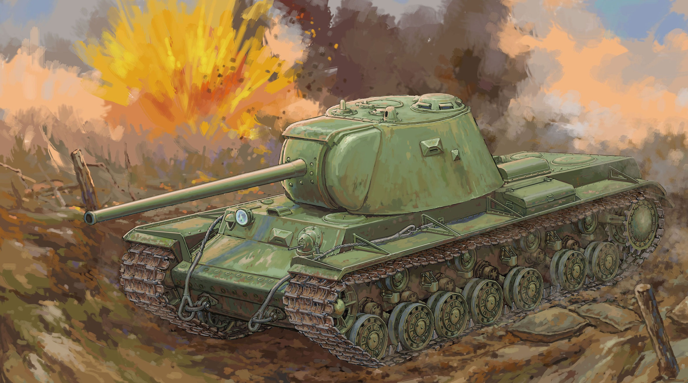 рисунок Russian KV-3 Heavy Tank