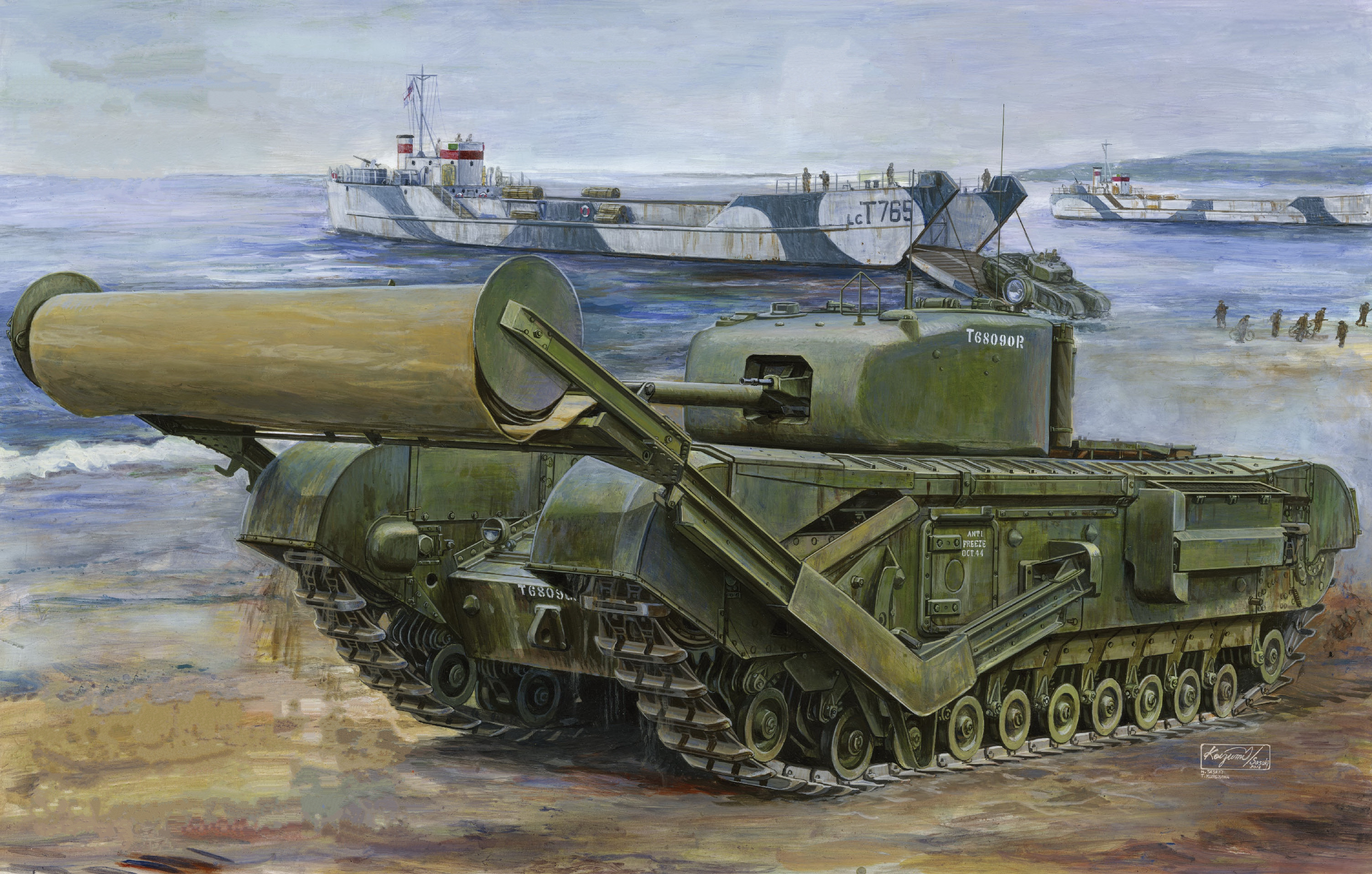рисунок Churchill TLC Type A w/Carpet Laying Devices