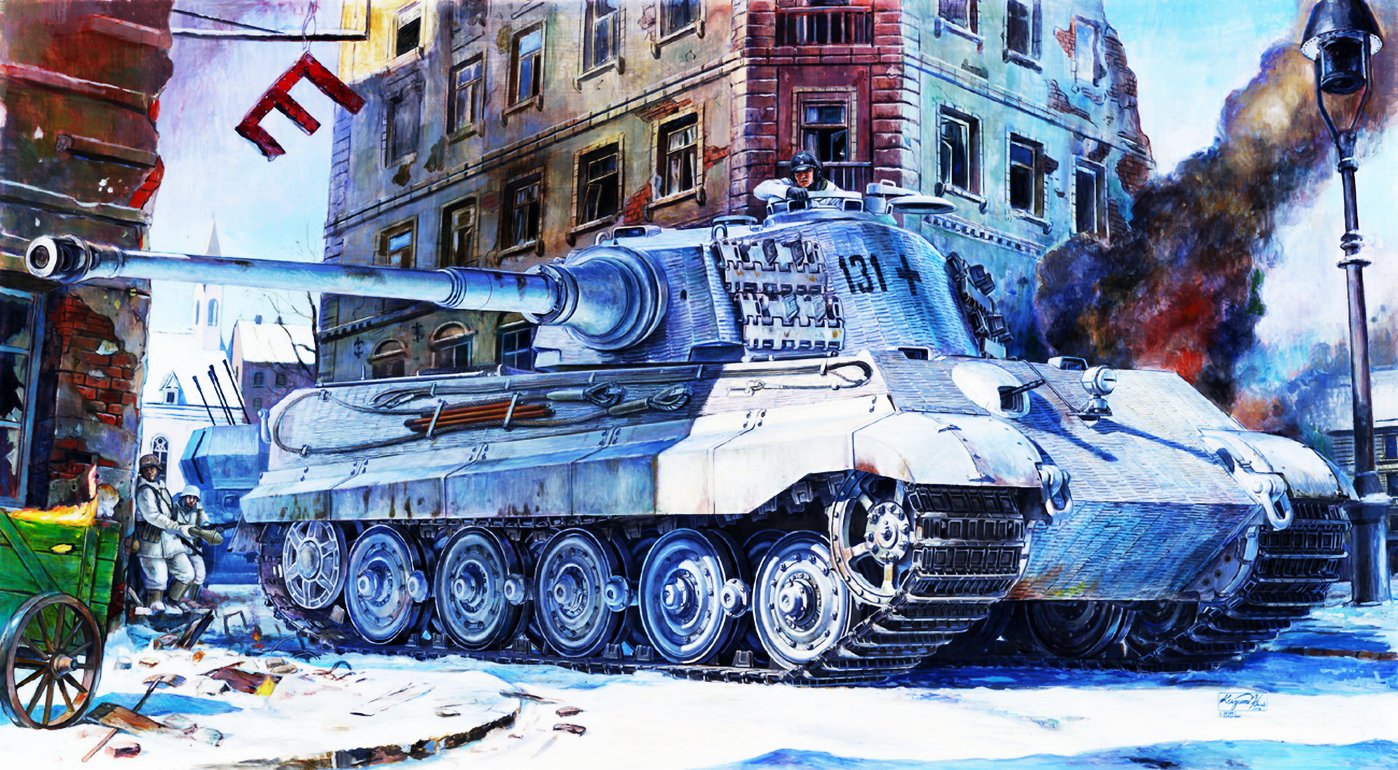 "рисунок Heavy tank Type IV King Tiger ""Henschel turret"""