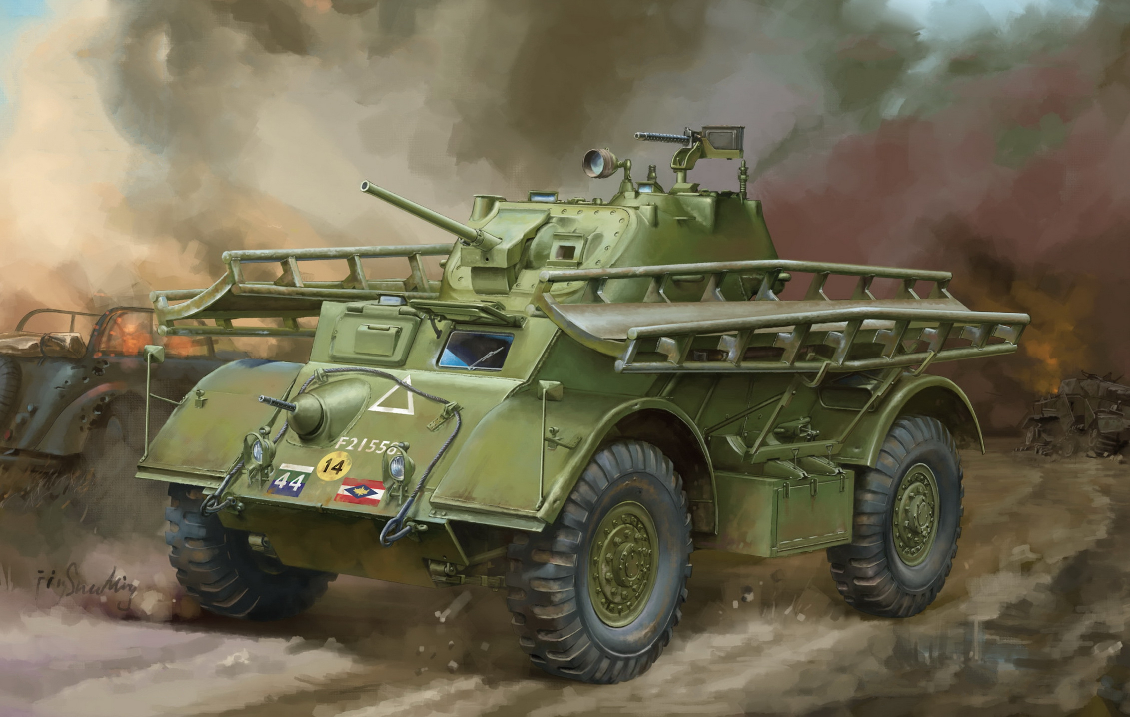 рисунок Staghound Mk.I