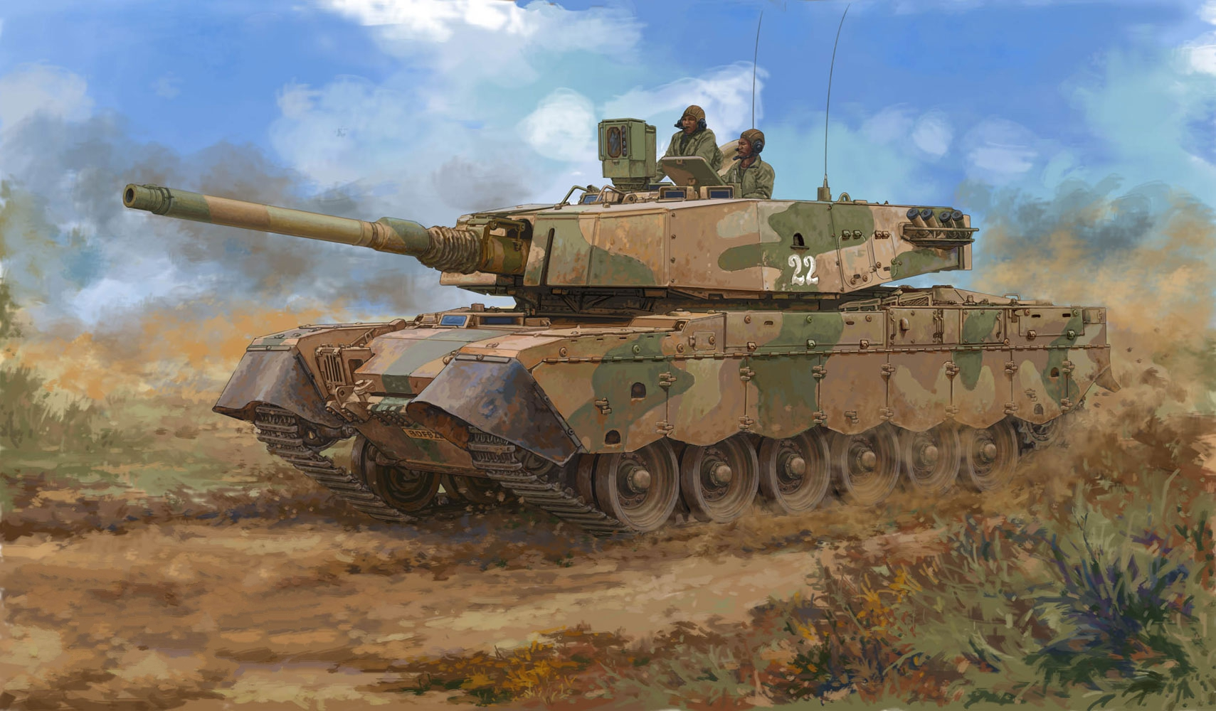 рисунок South African Olifant Mk.2 MBT