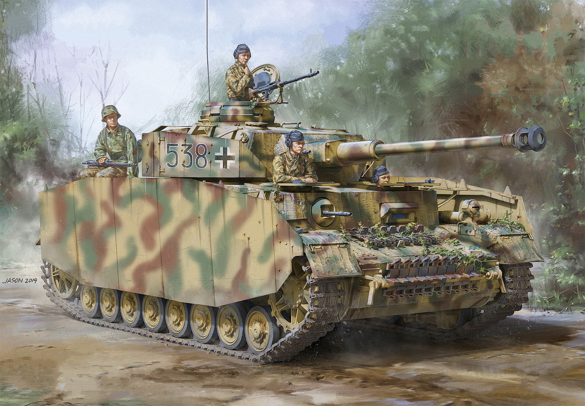 рисунок Pz.Kpfw.IV Ausf.H Early/Mid