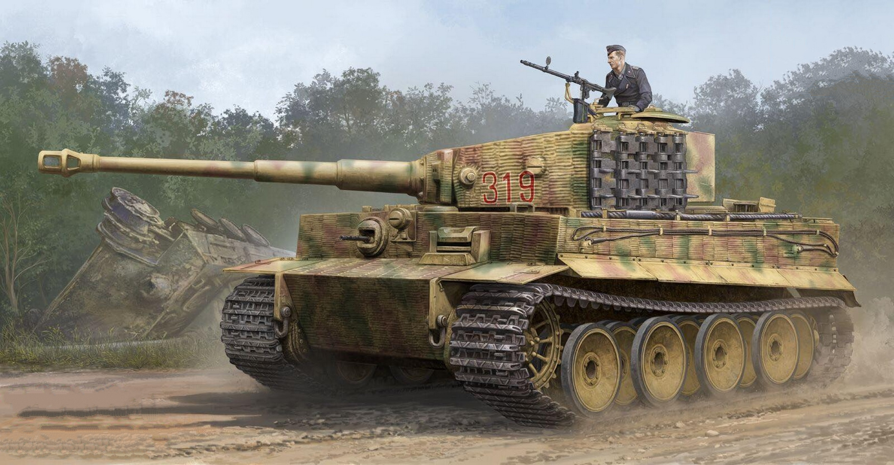 рисунок Tiger I (Mid. Production)