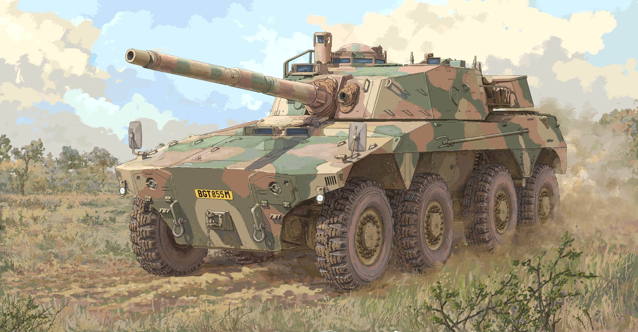 рисунок South African AFV Rooikat