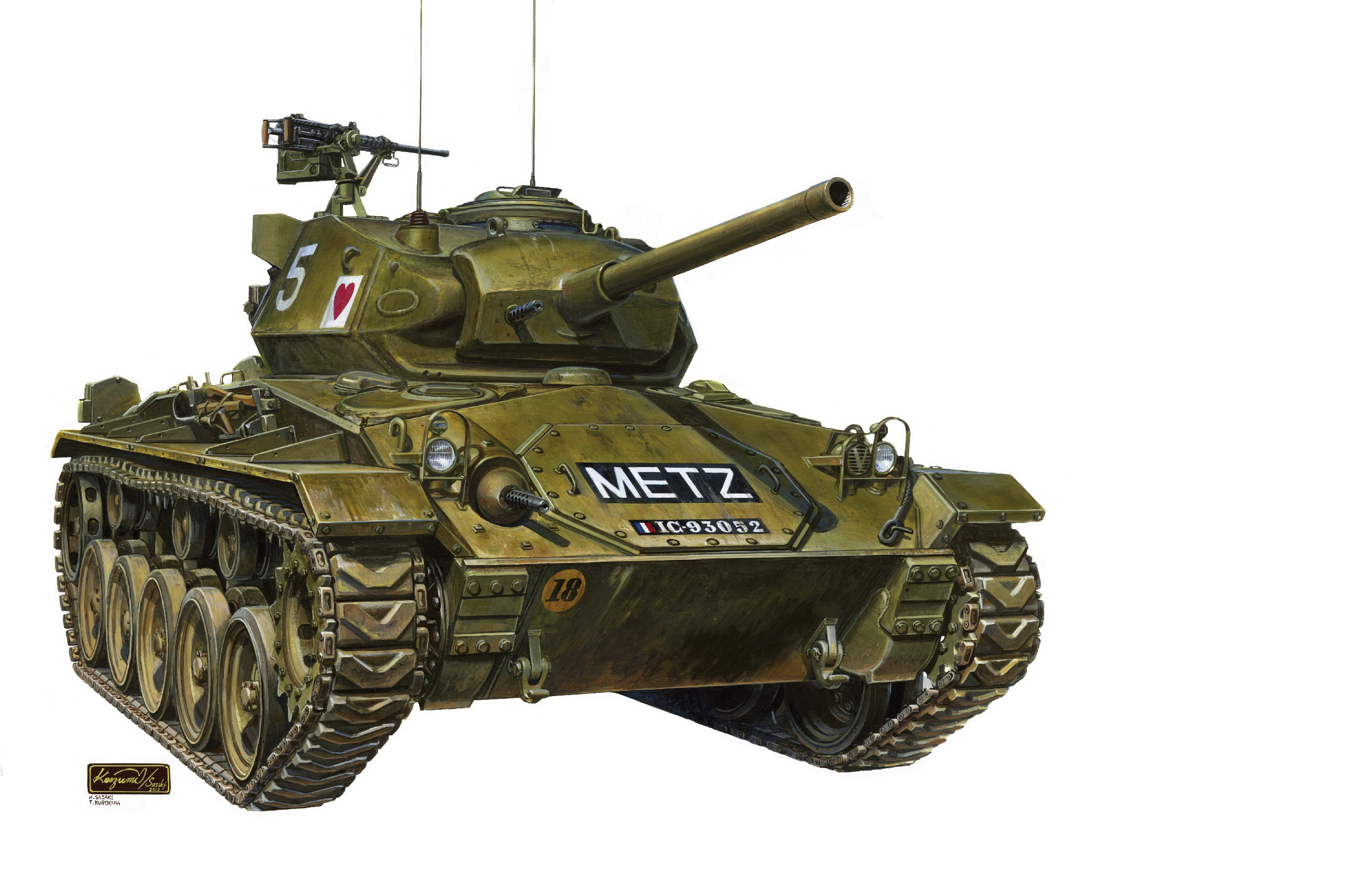 рисунок M24 Chaffee (The First Indochina War)
