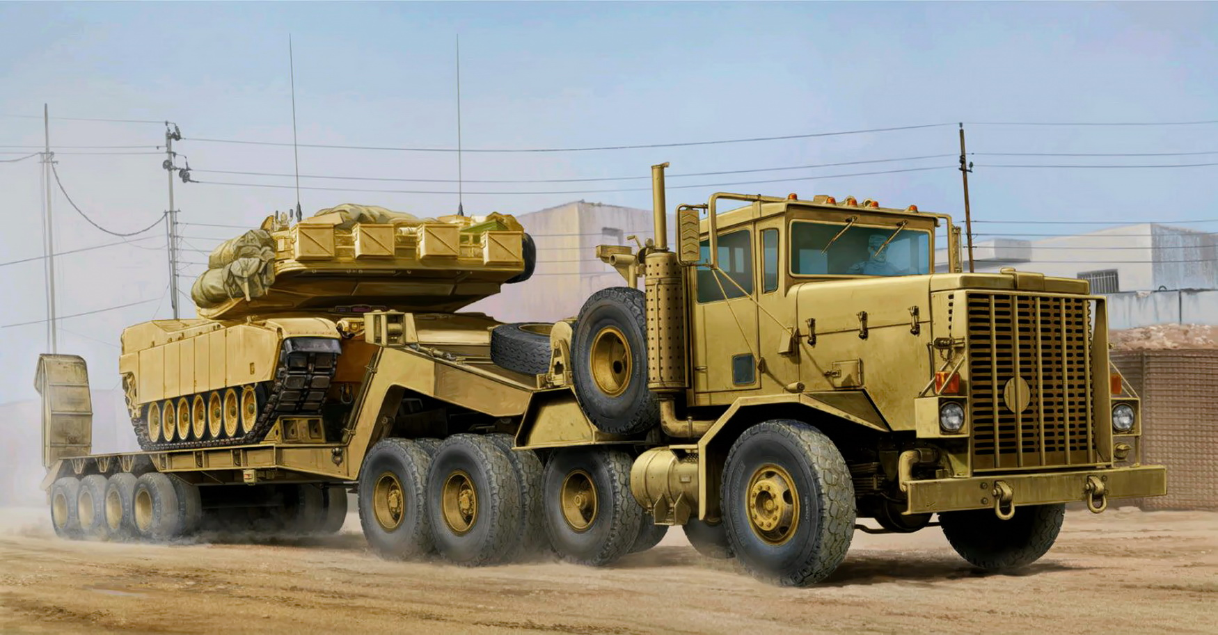 рисунок C-HET with M747 Heavy Trailer