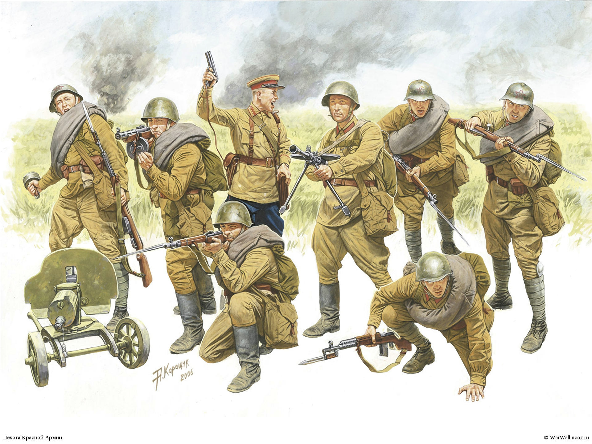 Всего у нас в галерее 3464 рисунков и ещё ...: warwall.ru/photo/warwall/zvezda/3526_pekhota_krasnoj_armii/10-0-653