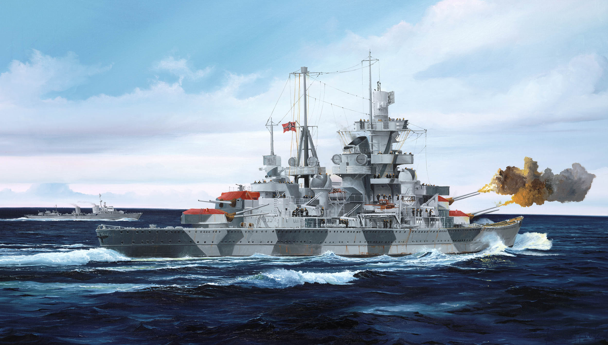 рисунок German Cruiser Admiral Hipper 1941