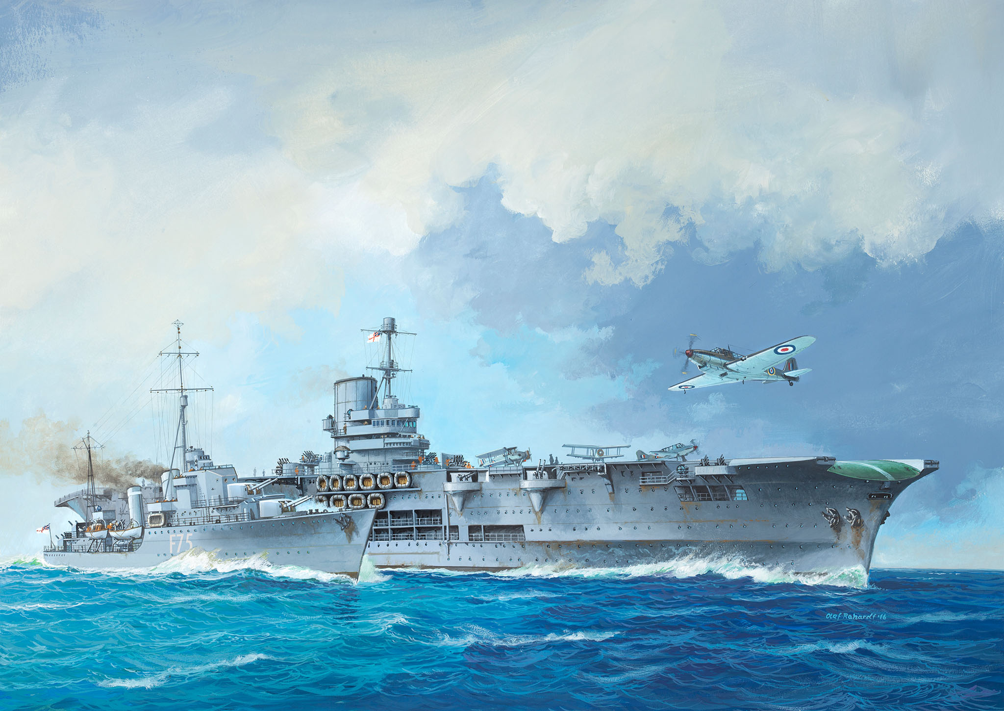 рисунок HMS Ark Royal & Tribal Class Des