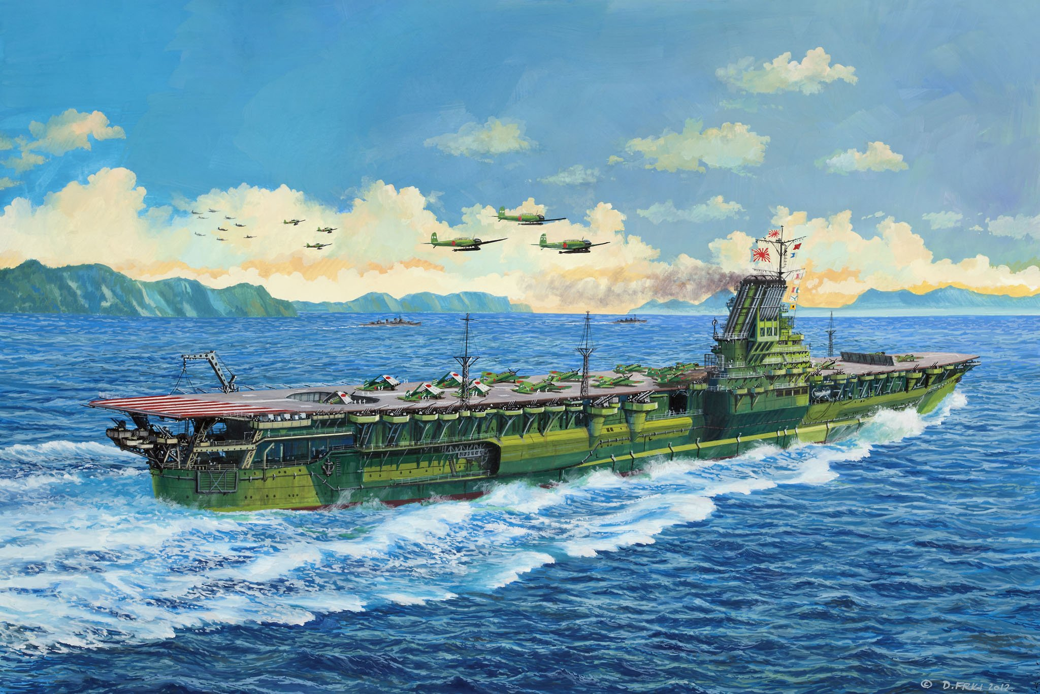 рисунок Aircraft Carrier Shinano