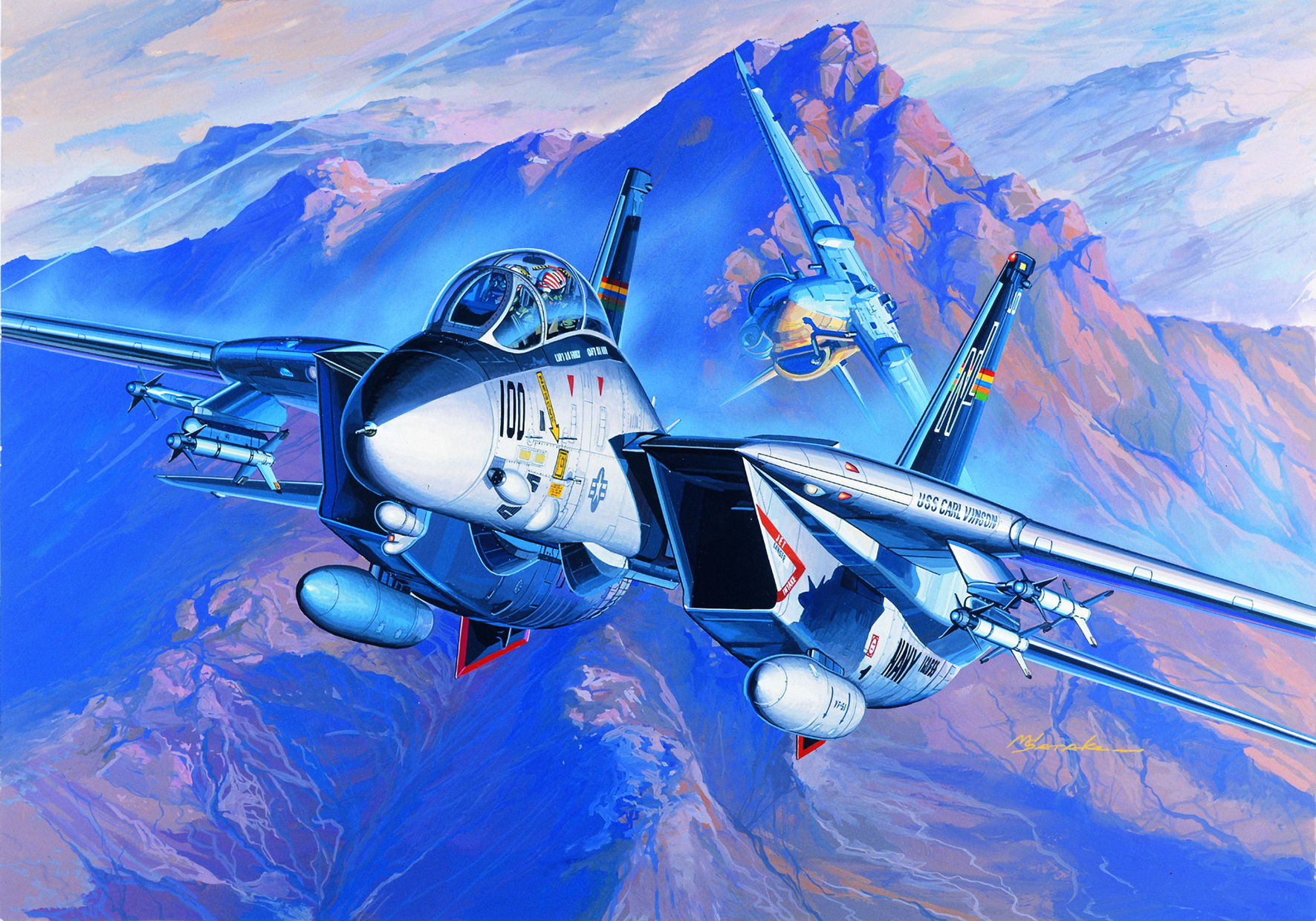 рисунок US Navy Swing-Wing Fighter F-14A