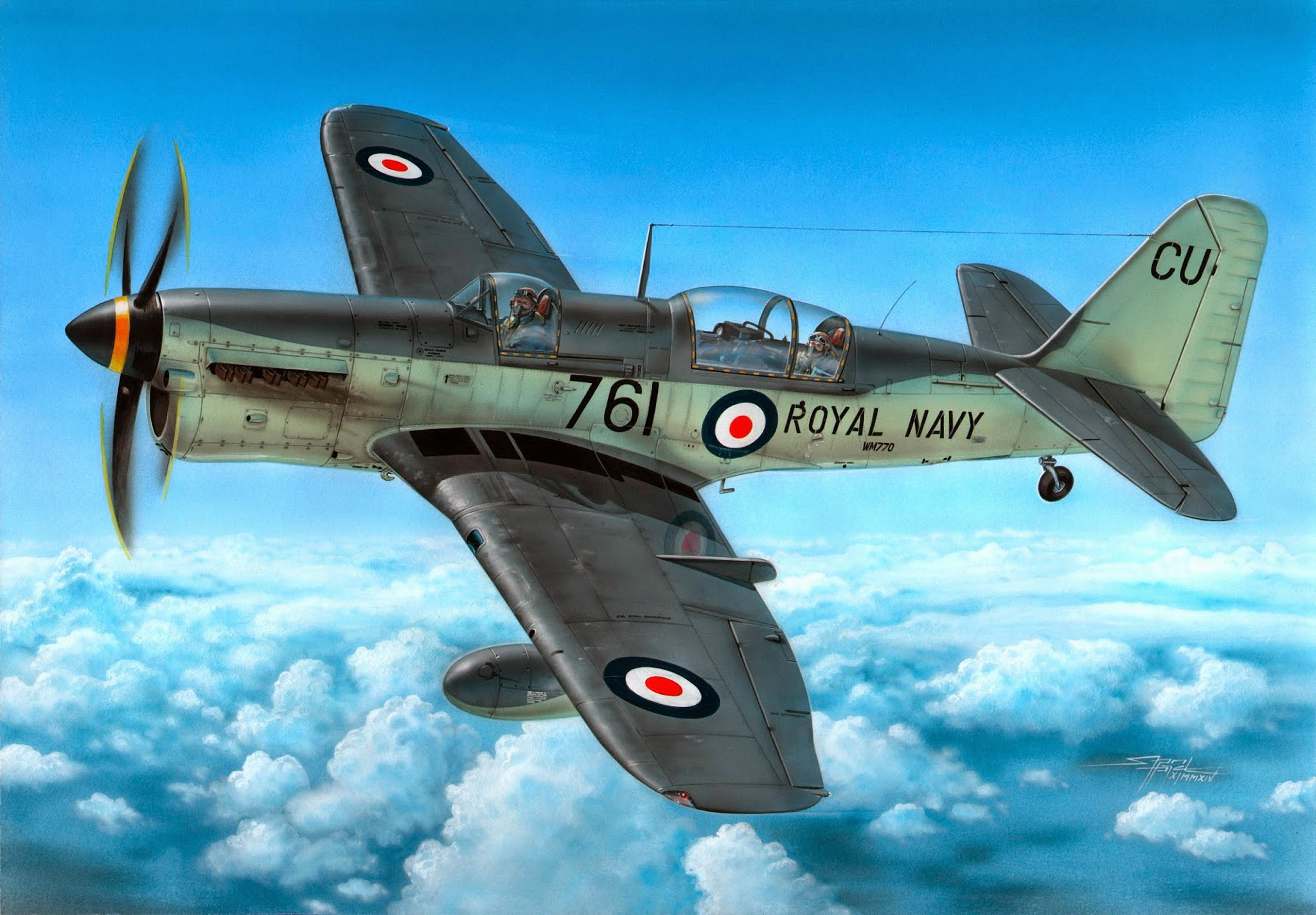 рисунок Fairey Firefly AS Mk.7