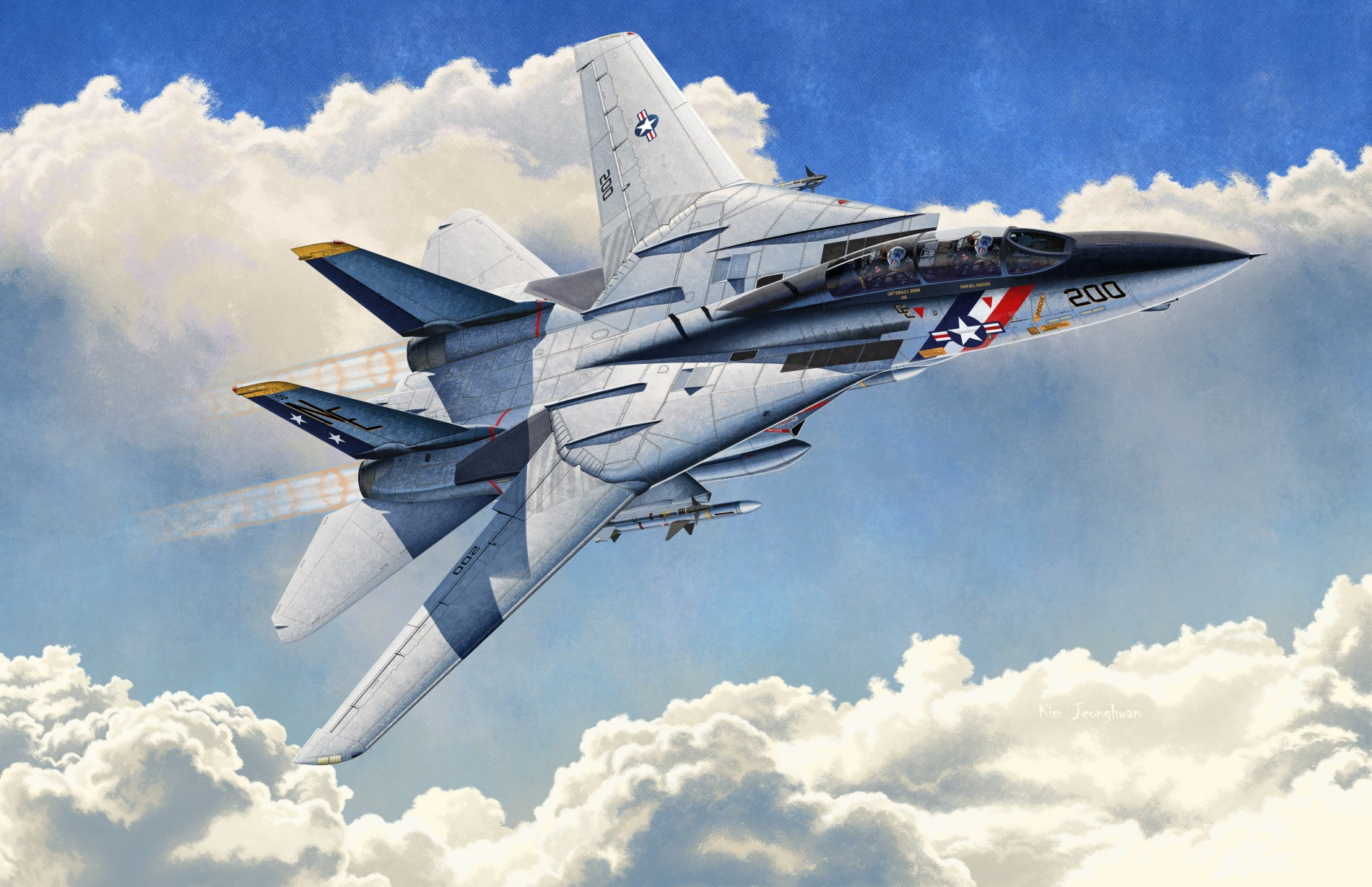 "рисунок F-14A USN ""VF-2 Bounty Hunters"""
