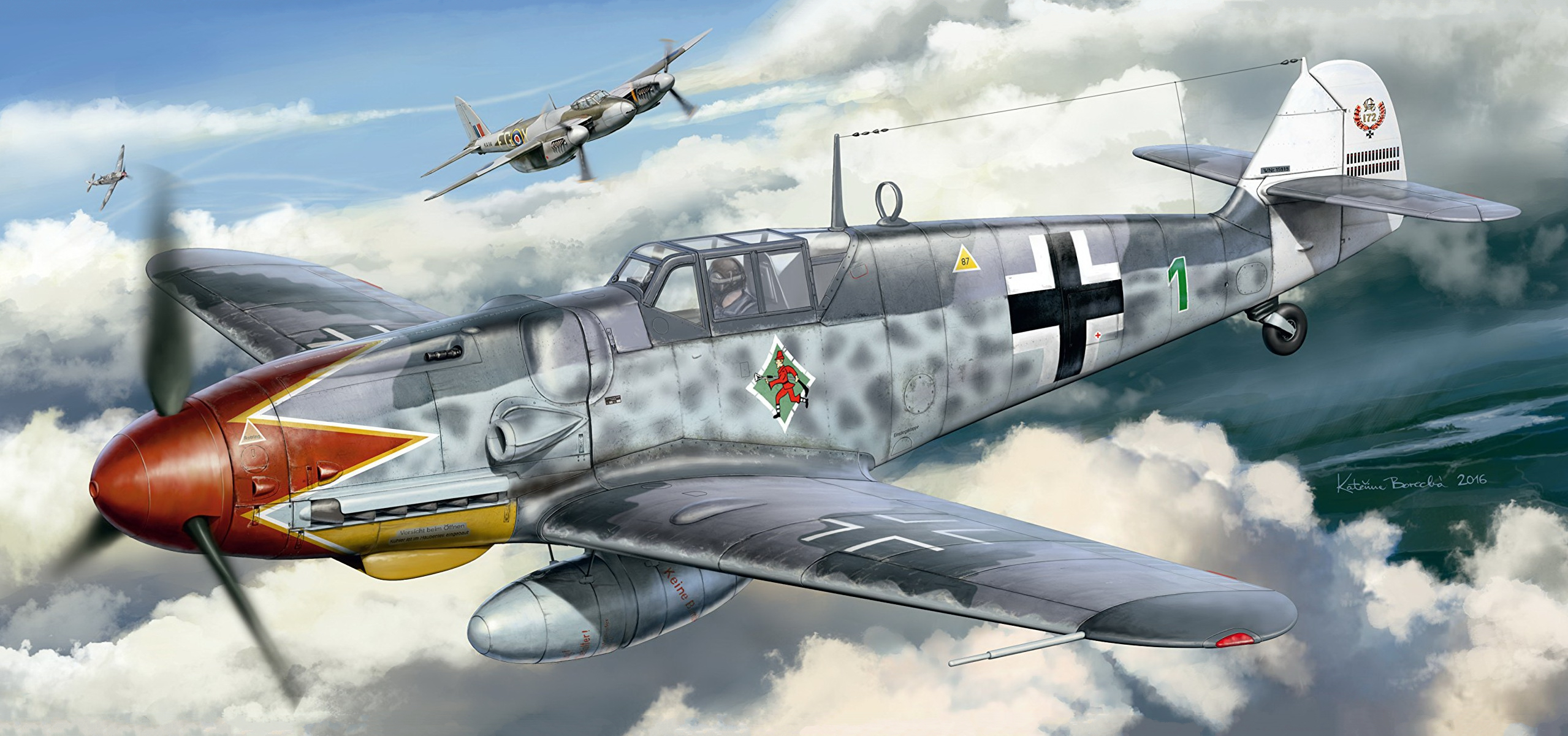 рисунок Messerschmitt Bf 109G-6 Early Version