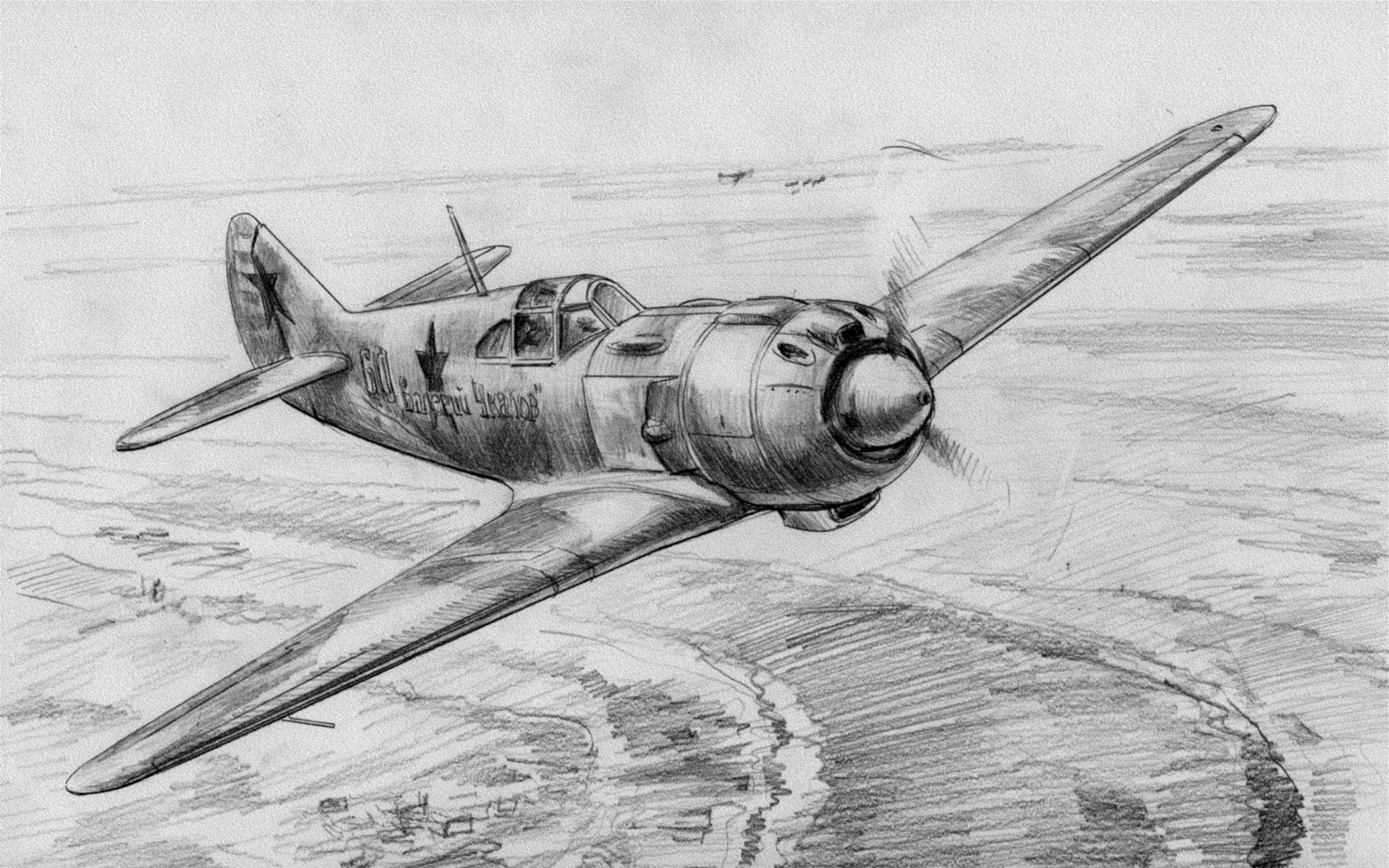 Обои ла-7, советский, одномоторный, одноместный, лавочкин. Авиация foto 12