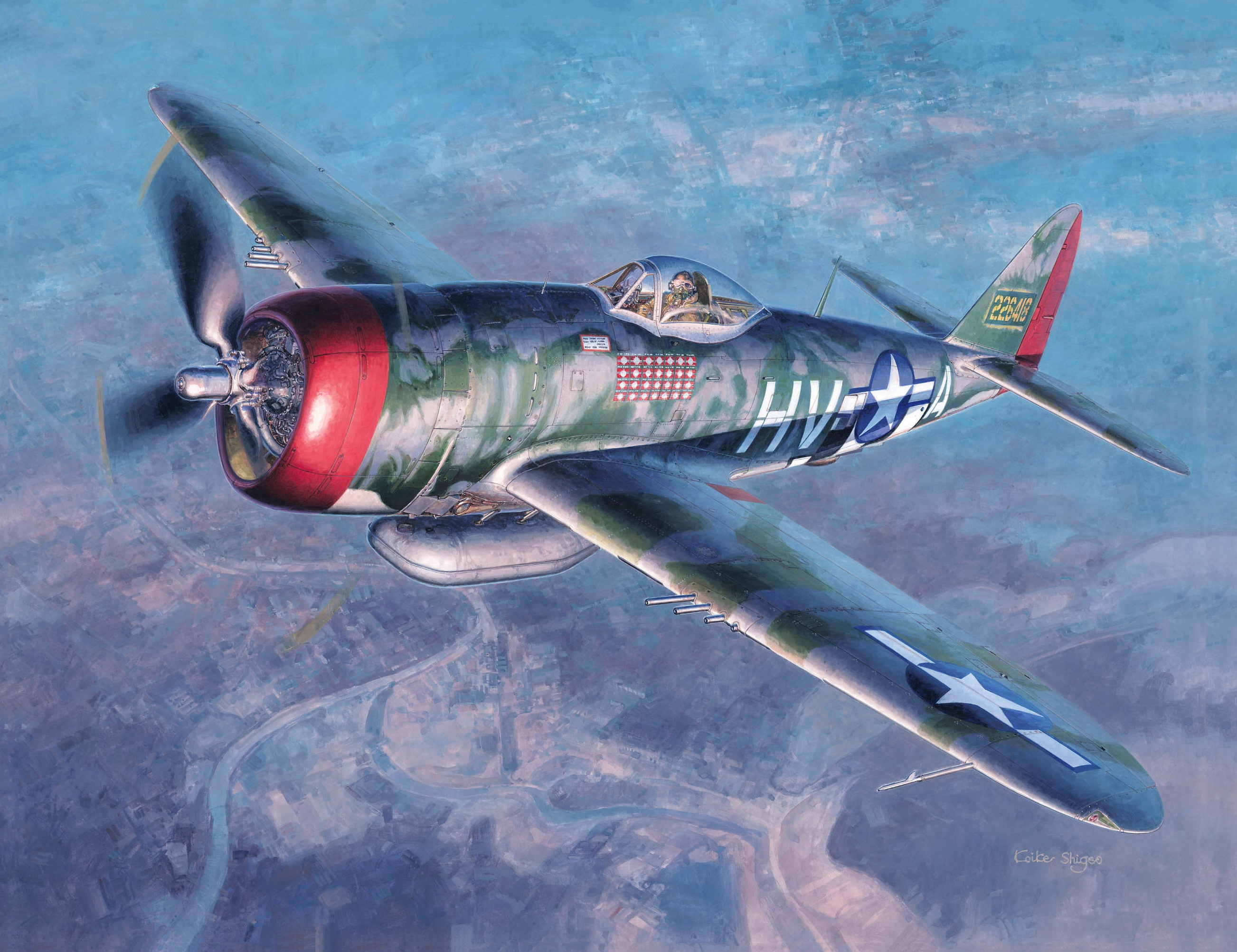 рисунок P-47D Thunderbolt US Army Air Force Fighter