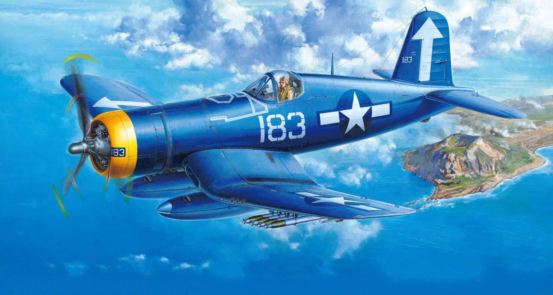 рисунок Vought F4U-1D Corsair