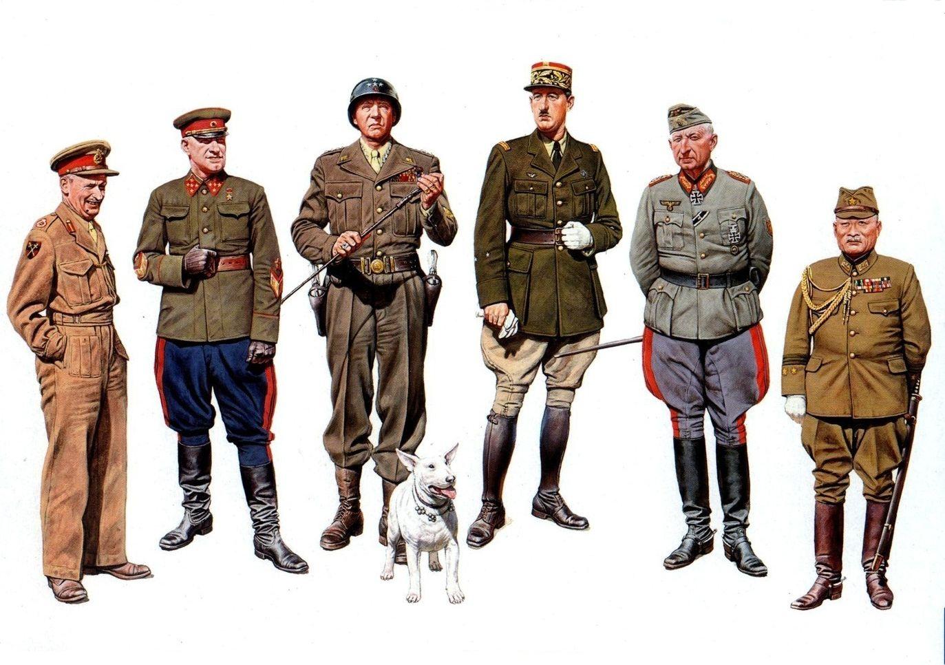 рисунок Генералы Второй Мировой