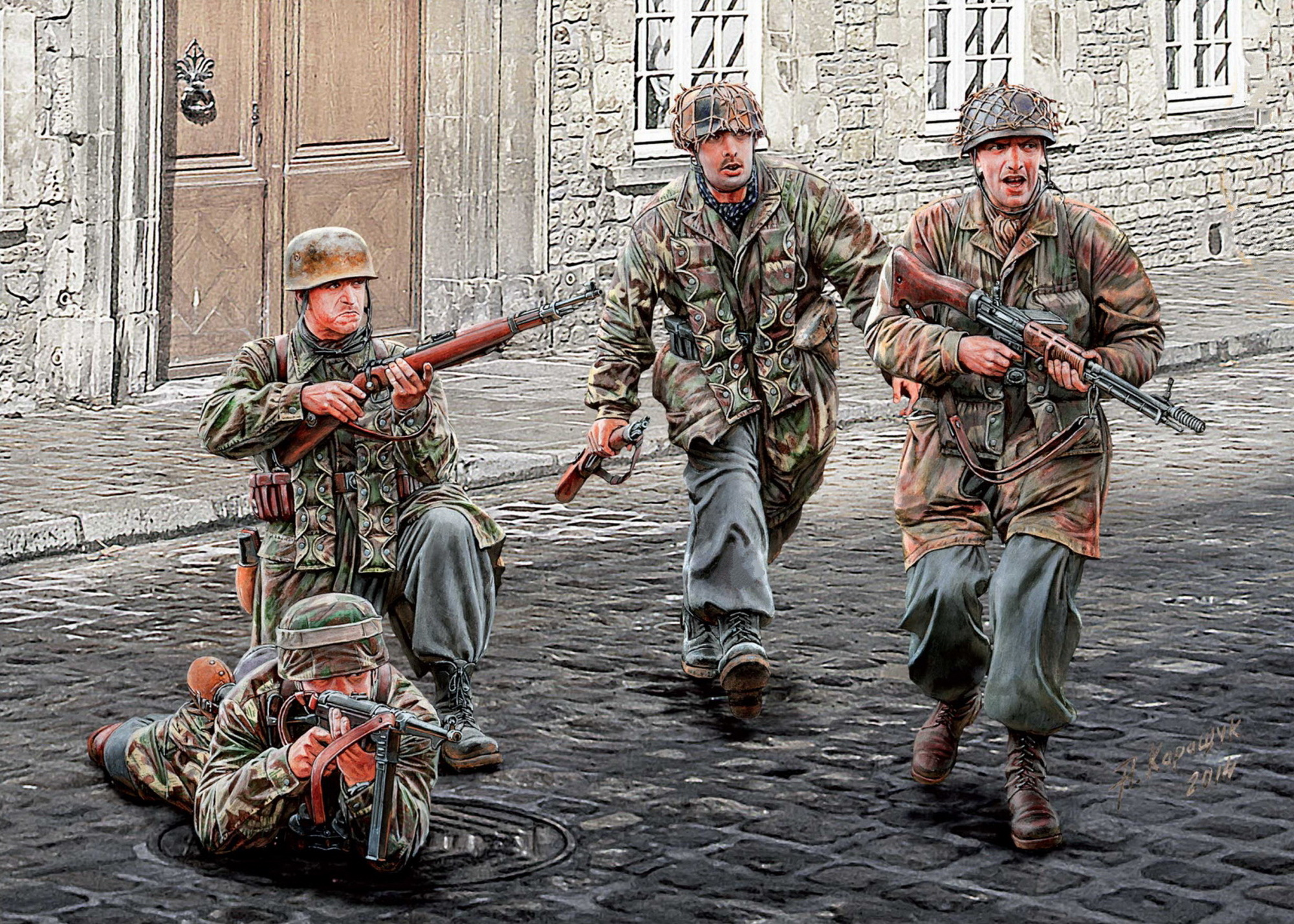 рисунок German Paratroopers, WW II era