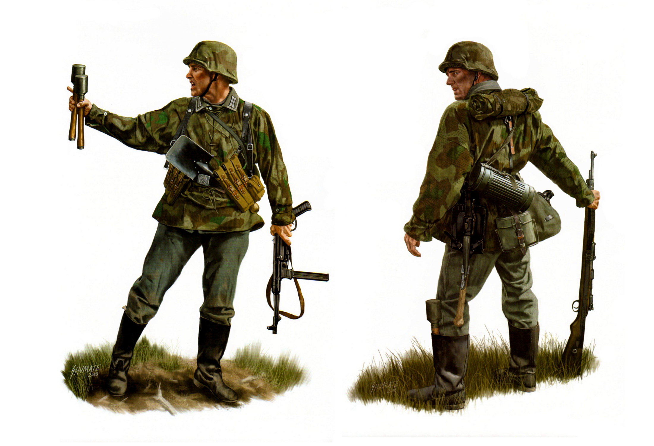 рисунок German Infantry