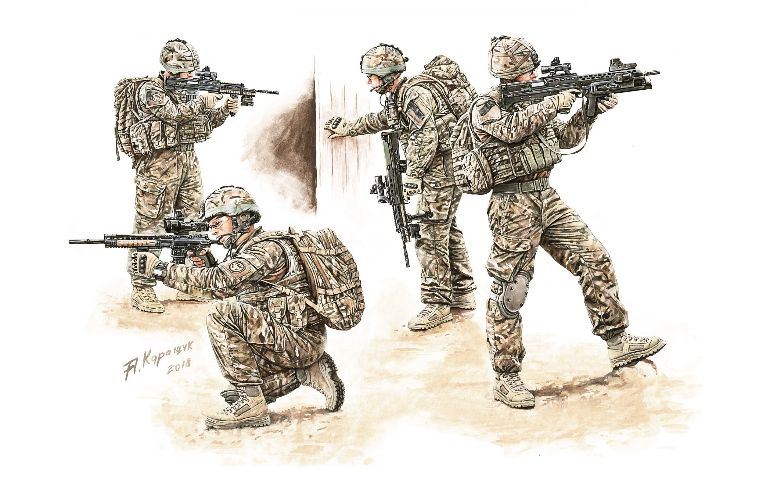 рисунок British Infantry in Combat Circa 2010-2016 Set 2