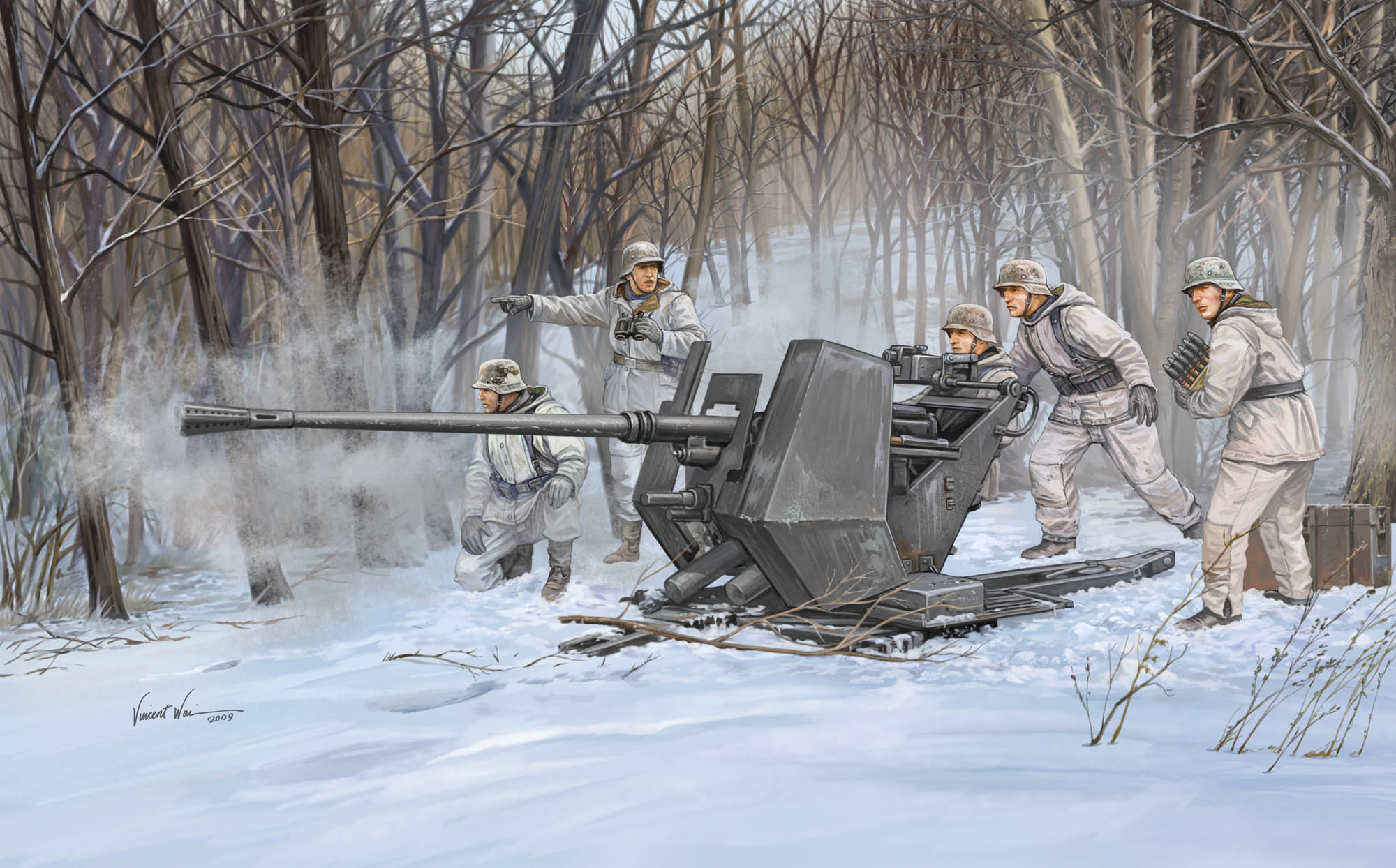 рисунок German Anti Aircraft Gun FlaK 37 (3,7cm)