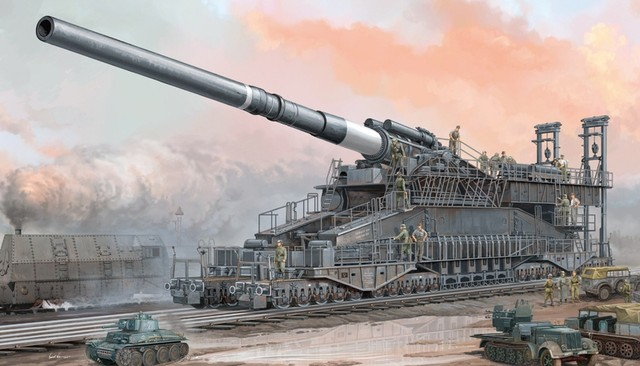 German 80cm K(E) Railway Gun Dora